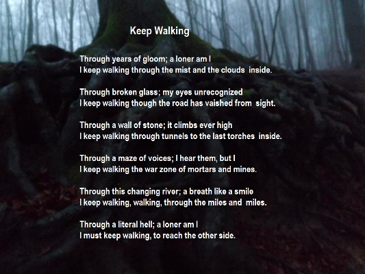 Keep Walking Poem